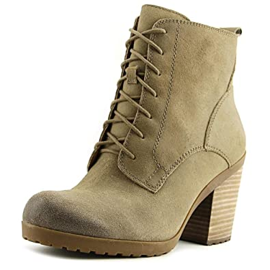 Orsander Round Toe Leather Ankle Boot