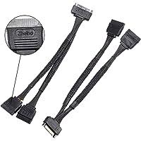 Zheino SATA Power Splitter Cable (2 Pack) SSD Power Cable HDD Power Cable Hard Drive Power Cable 6-Inch/15cm SATA 15 Pin Male to 2xSATA 15 Pin Female Power Y-Splitter Extension Cable