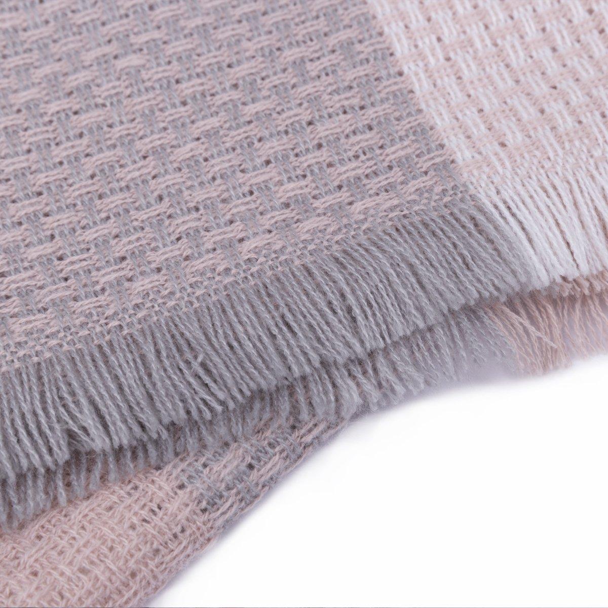 WISH CLUB Frauen Platz Schal übergroße Tartan Decke große Winter warme Schal Quaste Wrap