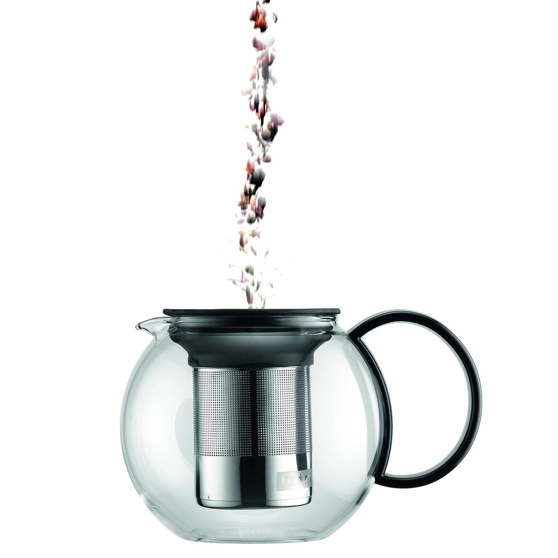 Tetera con filtro de acero inox 0,35 l K1805-01 Assam 1,0 l Bodum 2 mugs de cristal