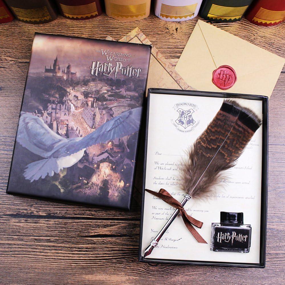 Coffret cadeau pour enfants Stylo cr/éatif en m/étal avec plume Stylo de calligraphie plume avec encre