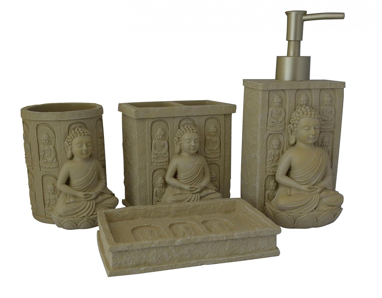 Salle De Bain Gris Anthracite Et Bleu ~ bouddha salle de bain 4 pi ces avec distributeur de savon porte