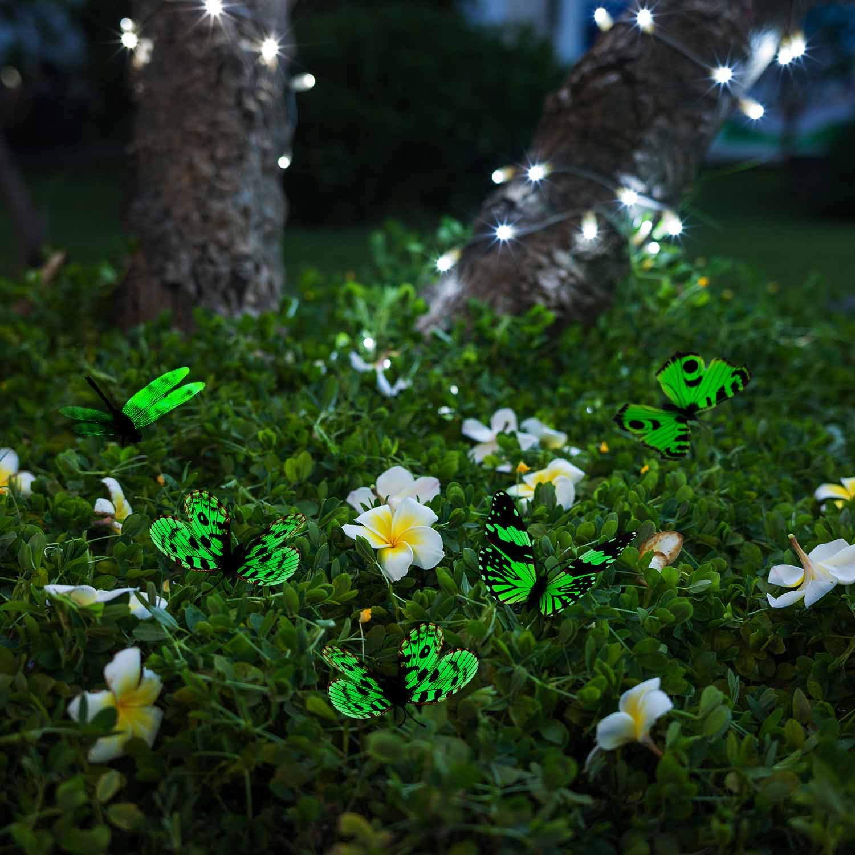 20x Bunt Blumentopf Dekor Garten Deko Schmetterling Garten Verzierungen DIY