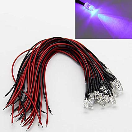 3mm 12V DC Orange LED Pre-Wired Round Top Bulb Lamp For DIY Car Boat Toys Parties LAOMAO 1 Pack 20 Bulbs