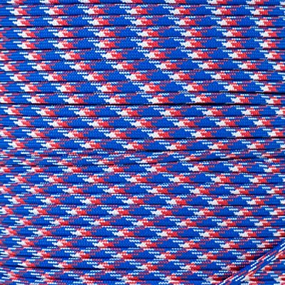 Paracord Planet 550 Cord Type III 7 Strand Paracord 10 Foot Hank - Patriotic