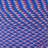 Paracord Planet 550 Cord Type III 7 Strand Paracord 100 Foot Hank - Red, White & Blue Camo