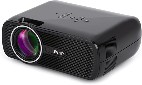 LESHP Mini Proyector LED 1080p HD HDMI / VGA / USB / AV / TV ...