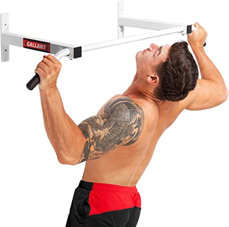 Wall Mounted Pull Up Bar Chin up Bar Chinning Bracket Steel Home Gym Fitness UK