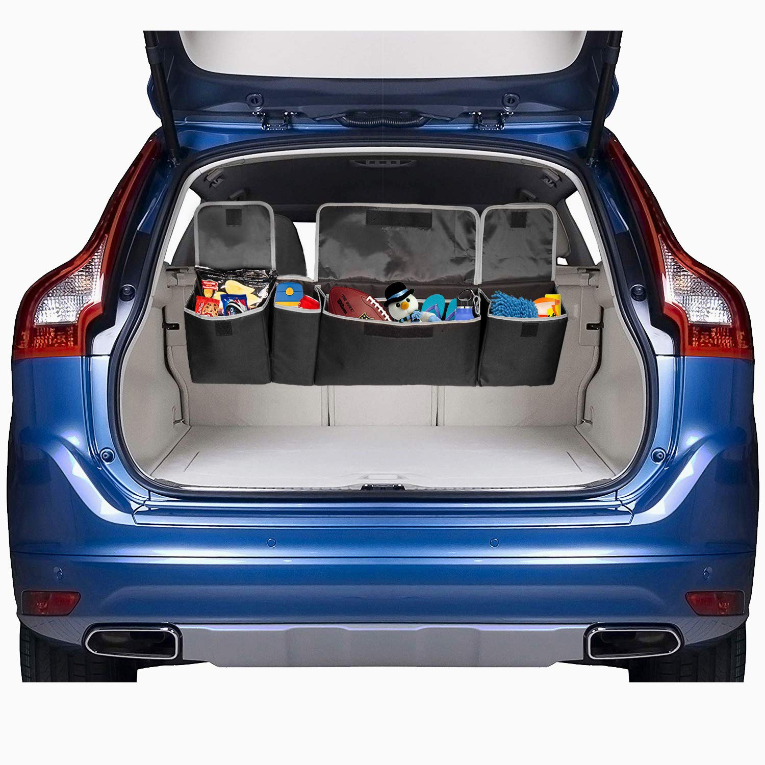 PIDO Backseat Trunk Organizer, Auto Hanging Seat Back Storage Organizer for SUV and Many Vehicles – Free Your Trunk Space by PIDO (Image #6)