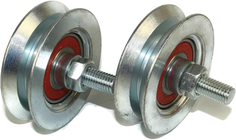 R79/–22/–12 Lot de 2/roues de portail coulissant 22/mm rond Groove 79/mm de diam/ètre fabriqu/é en Union Europ/éenne