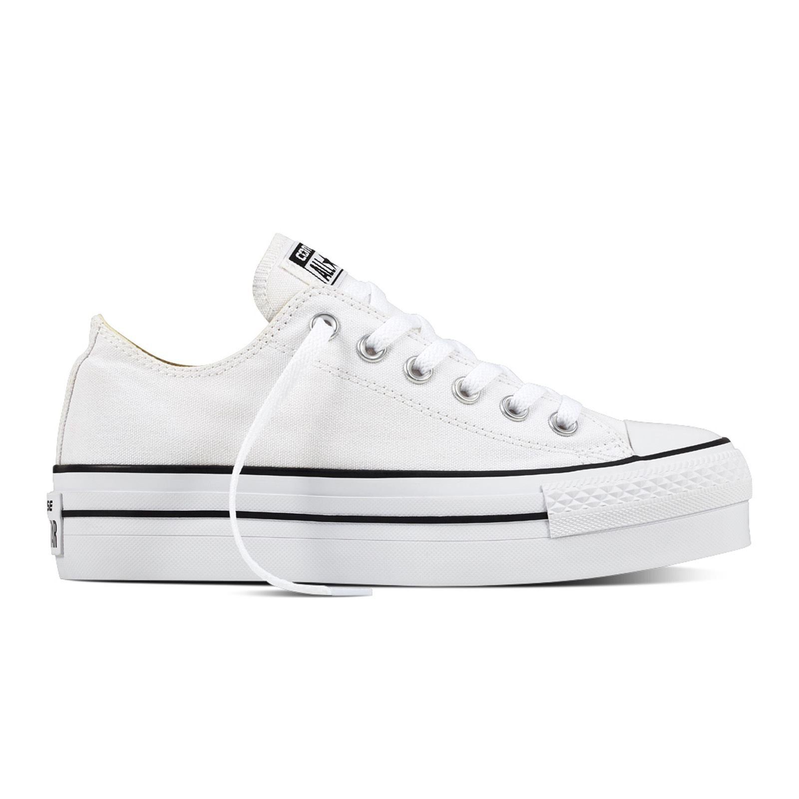 Converse Womens Chuck Taylor Platform White Canvas Trainers 8 US