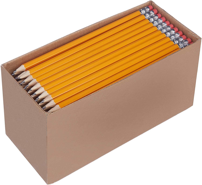 Amazon Basics - Lápices n.º2 HB de madera, afilados, Pack de 30
