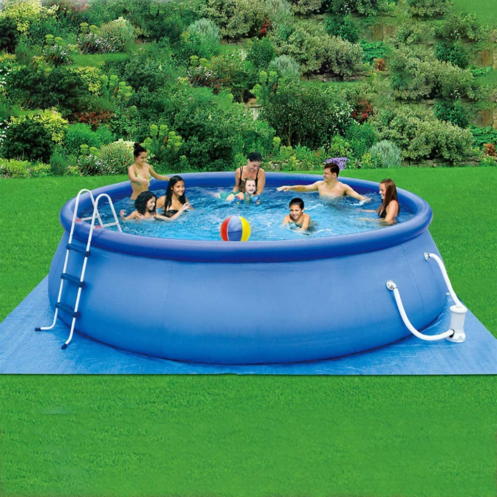 Cover 77JOK Summer Family Swimming Pool Party for Kids /& Adults 2020 New Inflatable Above Ground Swimming Pool with Filter Pump Ladder Blue 15ft x 36in Quick Set Inflatable Lounge Pool