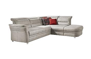 Hochwertig CAVADORE Eck Sofa Bontlei/Federkern Couch Mit Schlaffunktion Und  Ottomane/Inkl.