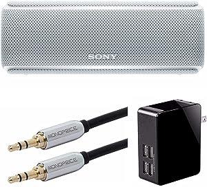 Sony SRS-XB21 Portable Wireless Bluetooth Speaker, White (SRSXB21/W) Bundle
