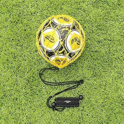 ?Win Your World Cup?PodiuMax Handle Solo Soccer Kick Trainer with New Ball Locked Net Design, Soccer Ball Bungee Elastic Training Juggling Net (Fits Ball Size 3, 4, 5)