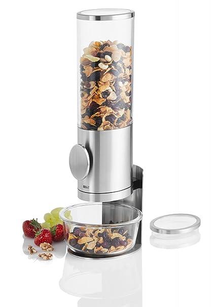 Ad Hoc Dispensador de Cereales con Base Deposito CS11, acero inoxidable y acrílico