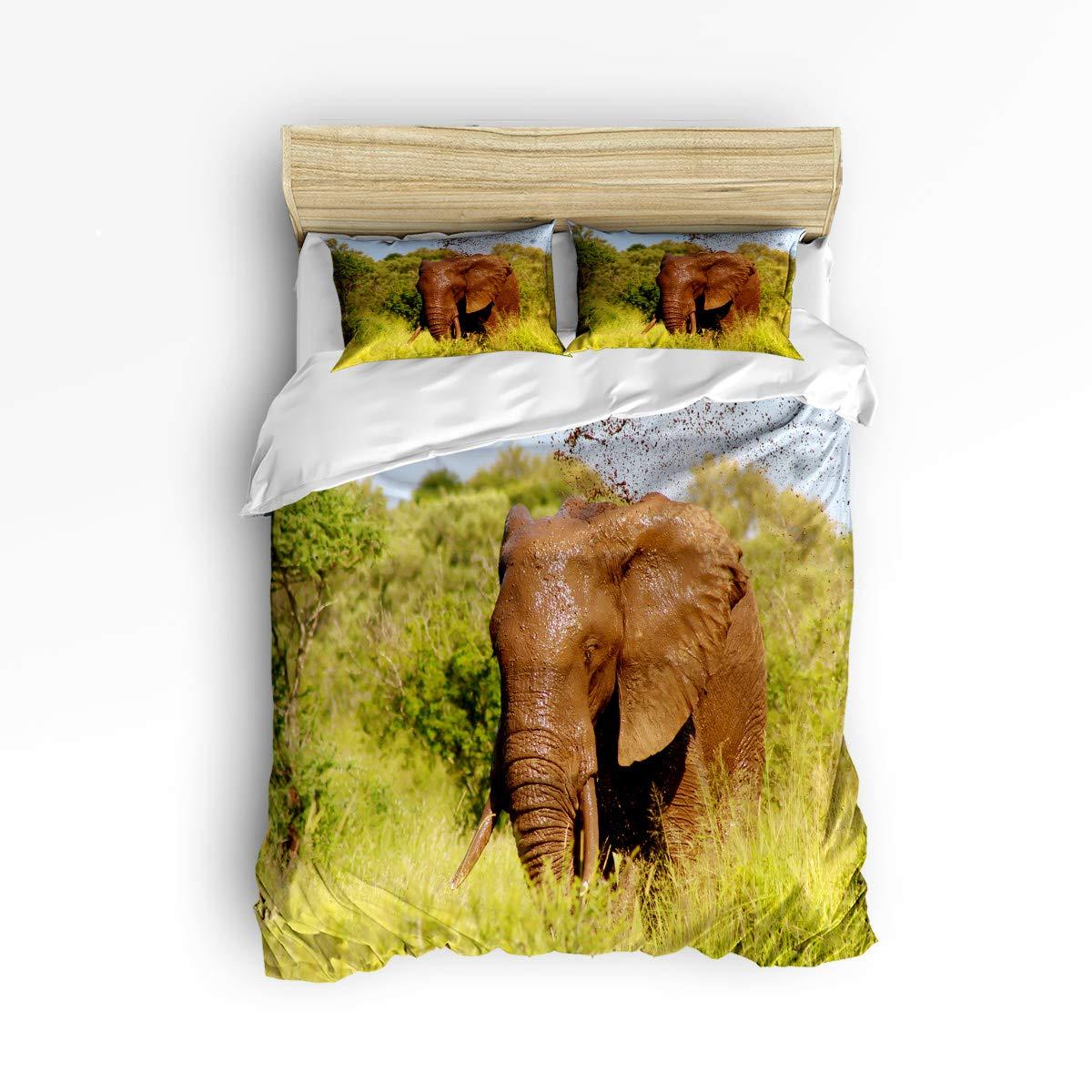 EZON-CH かわいい布団カバー3点セット 子供 男の子 女の子 美しい太陽の下のイルカの風景 高級寝具セット 枕カバー2枚付き King Size 20190117WHLSJSEZONCSLEO01340SJSDEZN B07MVWTRPD Elephant27ezn3138 King Size