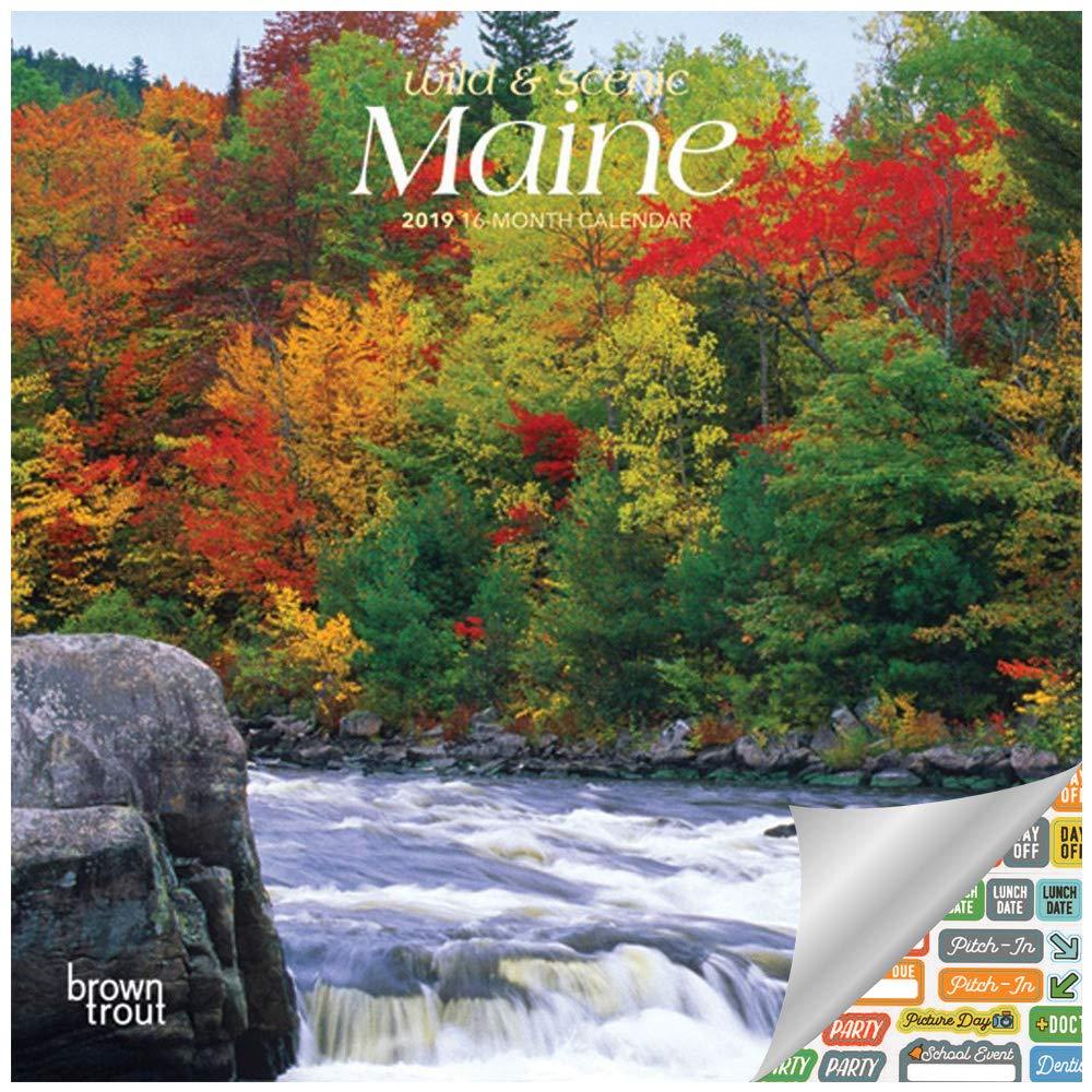 Amazon com : Maine Calendar 2019 Set - Deluxe Scenic 2019