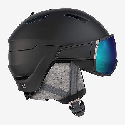 Salomon Damen Mirage S Ski und Snowboardhelm, mit Visier, OTG Lösung für Brillenträger, EPS 4D Innenschaum