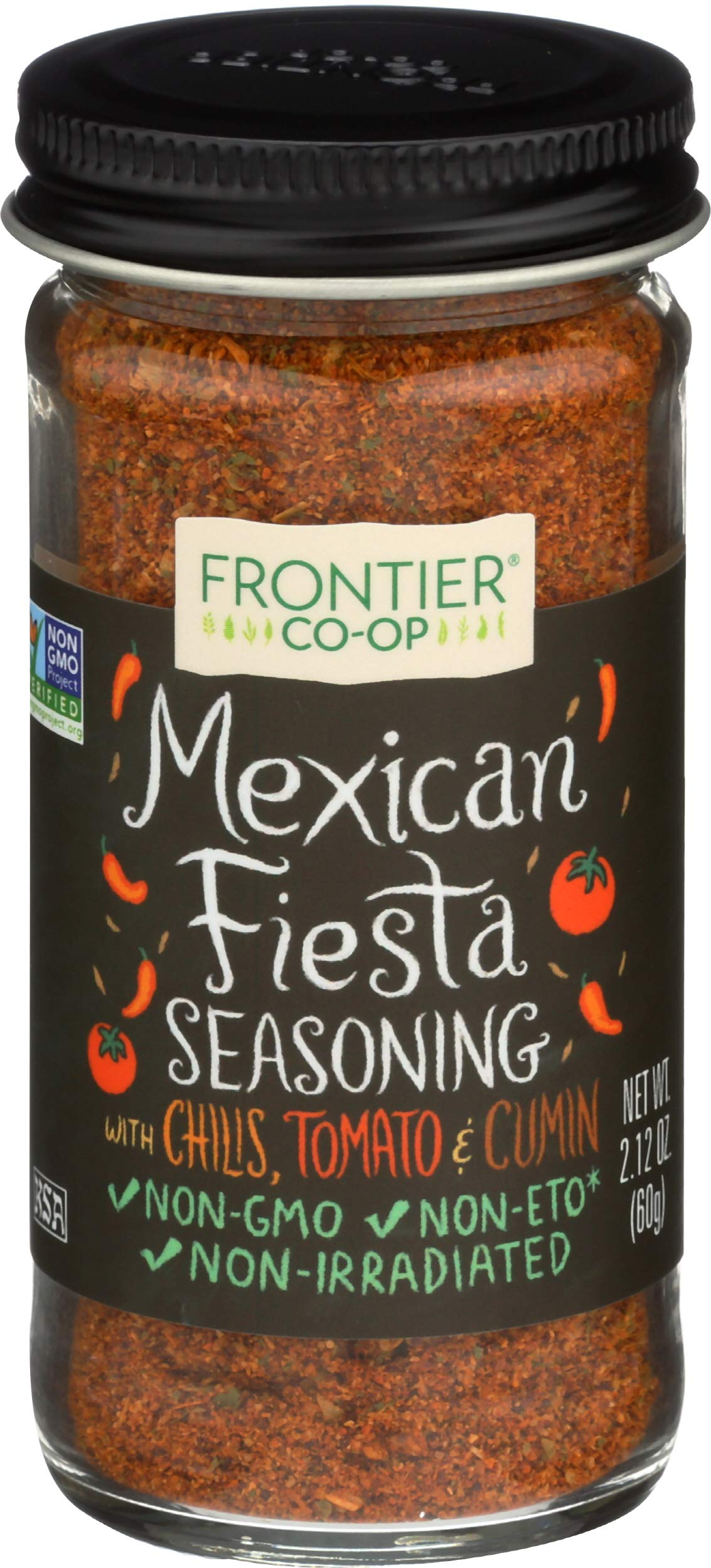 Frontier Seasoning Blends Mexican Fiesta, 2.12-Ounce Bottle