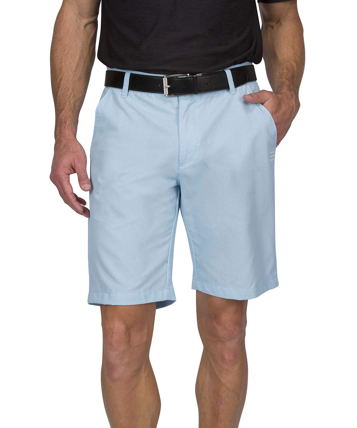 Dry Fit Golf Shorts for Men - Casual Mens Shorts Moisture Wicking - Men's Chino Shorts with Elastic Waistband Classic Blue by Three Sixty Six