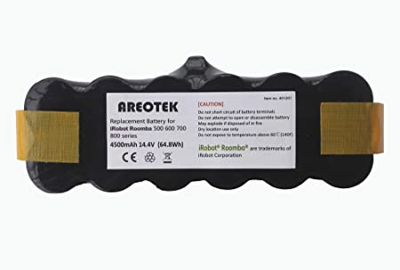 Exmate 14 4V 4 8Ah Ni-MH Replacement Roomba Battery for