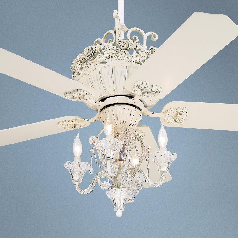 Com Pull Chain Crystal Bead Candelabra Ceiling Fan Light Kit Home Kitchen