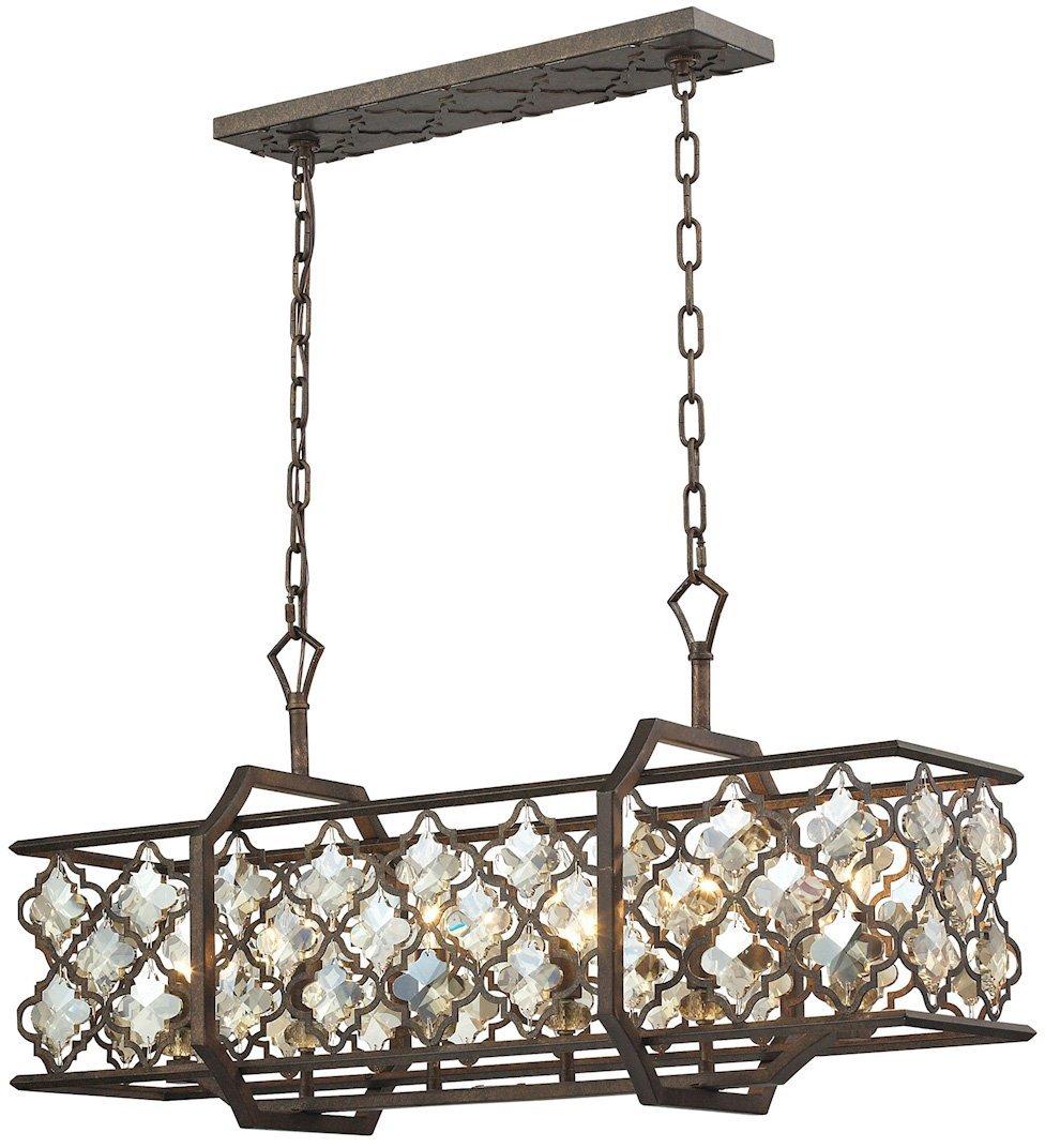 Elk lighting 31098 6 close to ceiling light fixtures 18 x 12 x 35 bronze amazon com