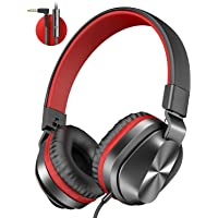 $24 » On-Ear Headphones with Microphone, Universal Foldable Wired Headphones for Adults Children Boys Girls Kids, Lightweight…