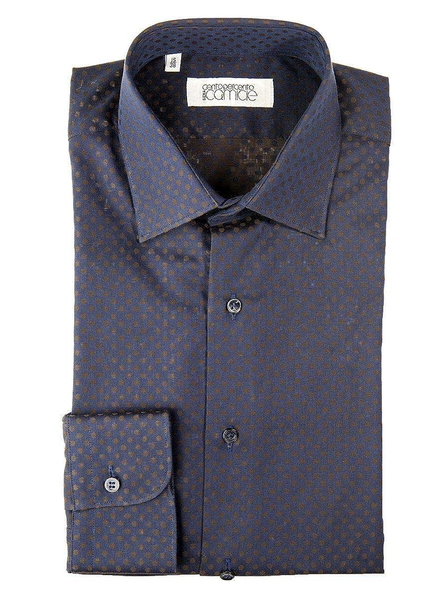 Marron  Centopercento Camicie - Chemise Décontracté - Homme