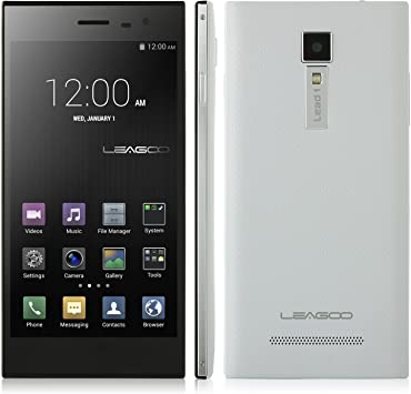 Promoción* LEAGOO Lead 1 Smartphone Android 4.4 MTK6582 3G 1.3GHz Quad Core 1GB 8GB 5.5 Pulgada HD OGS Pantalla Smart Wake Doble Cámaras Blanco: Amazon.es: Electrónica