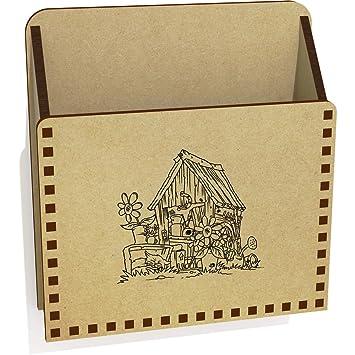 Antiguo Cobertizo De Madera Carta Poseedor / Caja (LH00020465)