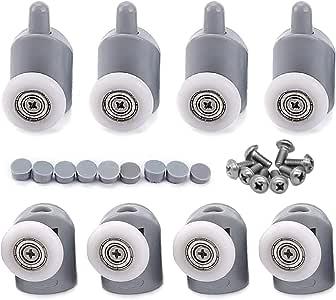 cococity Juego de 8 rodamientos para mampara de ducha, ruedas y poleas (23 mm de diámetro): Amazon.es: Bricolaje y herramientas