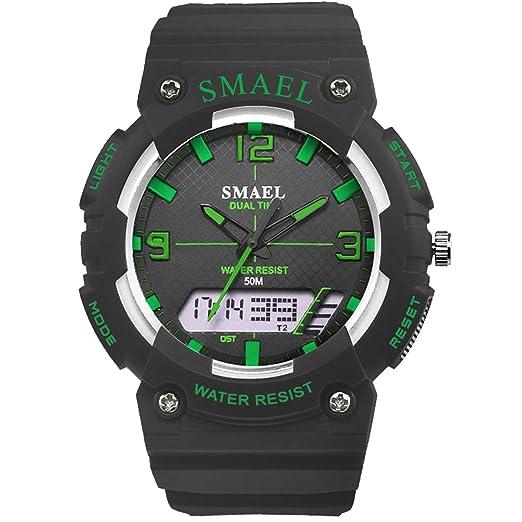 Daesar Reloj Hombre Moda Reloj Digital Reloj de Doble Pantalla Relojes Electronicos Reloj Hombre Luminoso Reloj Despertador Reloj de Estudiante Reloj Verde ...