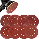 Coceca 80PCS 5 Inch Sanding Discs Sandpaper Assorted 40 60 80 120 150 180 240 320 Grits For Power Random Orbit Sanders