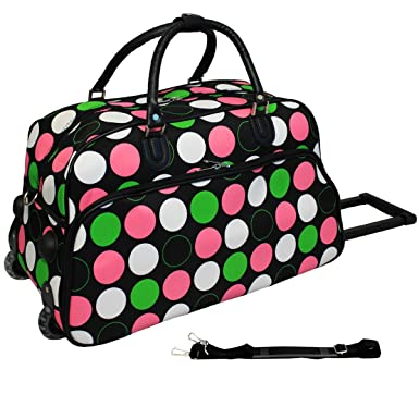 1d1af456a0be World Traveler Dots 21-inch Carry-On Rolling Duffle Bag - New Multi Dot