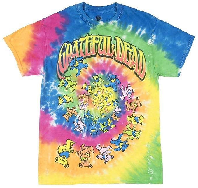 86d5e3f6b49 Amazon.com  Grateful Dead Spiral Vortex Bears - Adult T-Shirt  Clothing