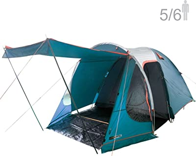 NTK Indy GT XL Sleeps up to 6 Person 14.2 by 8.0 FT Outdoor Dome Family Camping Tent
