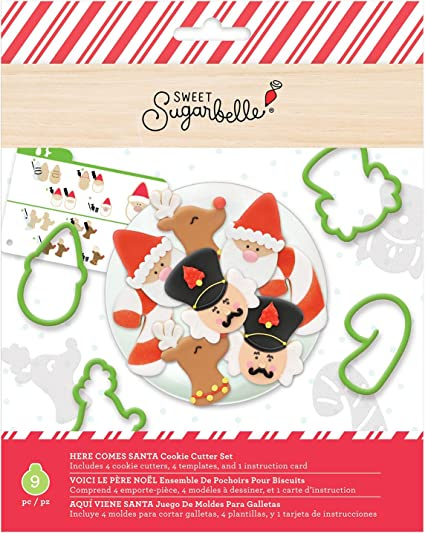 Amazon.com: Sweet Sugarbelle SB372401 Cookie Cutters, Here ...