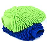 Car Wash Mitt 2 Pack - Extra Large Size Clean Tools Kits- Premium Chenille Microfiber Winter Waterproof Cleaning Mitts…