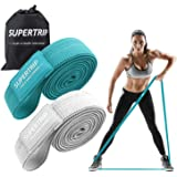 Supertrip Long Resistance Bands for Women Booty Bands Cloth Resistance Bands Pilates Bands Loop Bands Exercise Band Fabric Pu