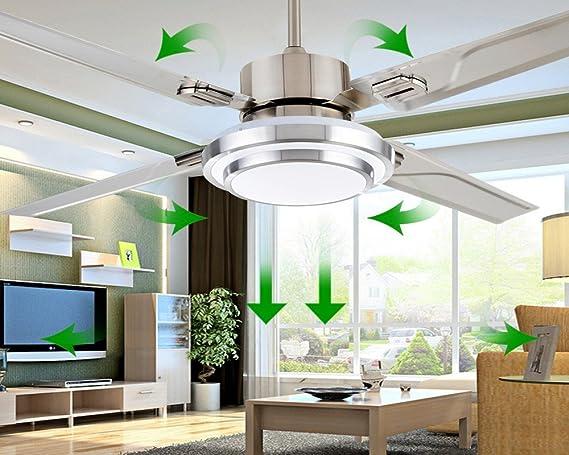 LED de ventilador de techo de acero inoxidable, de manera ...