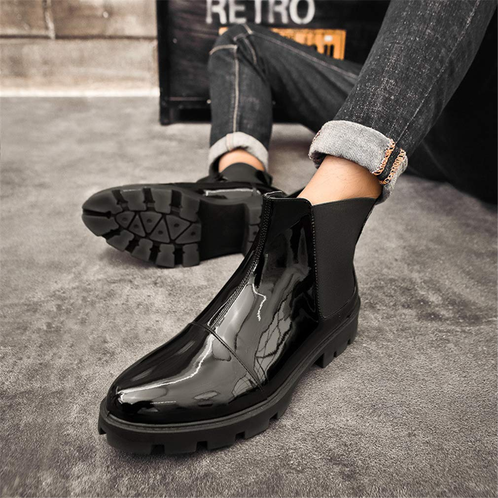 YAN 2018 Herrenschuhe Leder Martin Stiefel Neuheit Schuhe Loafers & & & Slip-Ons Fashion Kleider Schuhe Geschäfts Schuhe,schwarz,40 1a931b