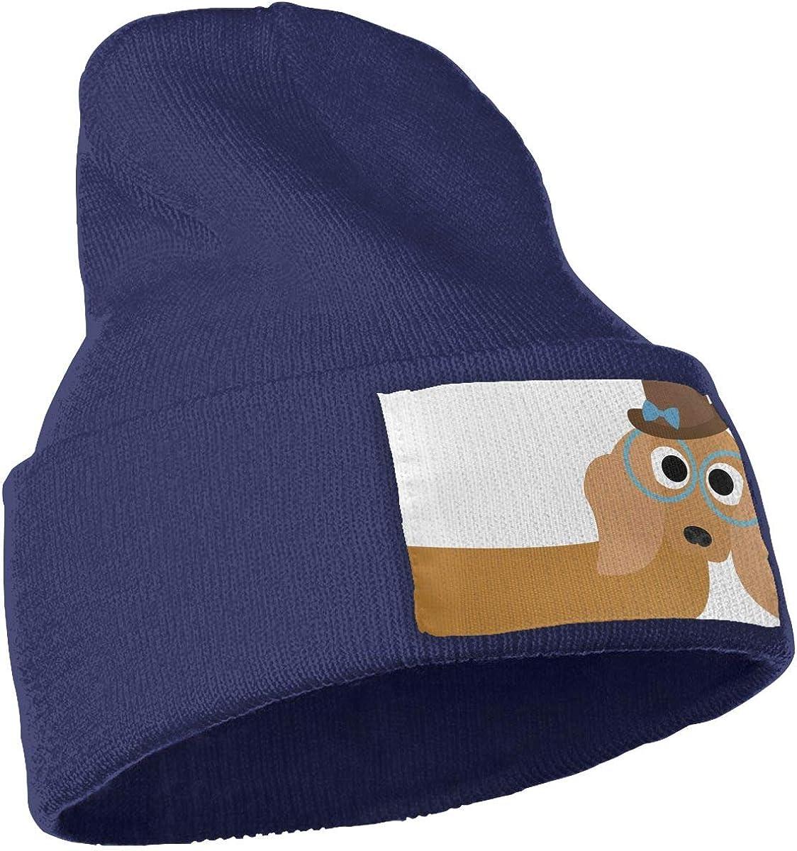 QZqDQ Wiener Dog Unisex Fashion Knitted Hat Luxury Hip-Hop Cap