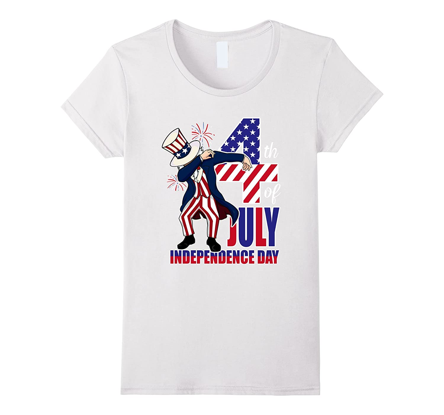 Funny Uncle Sam Dabbing 4th of July Independence day Shirt-Yolotee