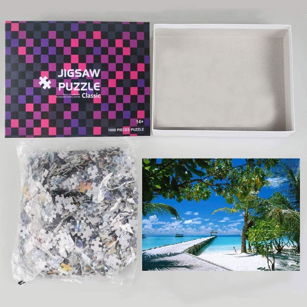 Arte Vita Maldives Puzzle Summer Sea Large Paper Puzzle 1000 Pieces Jigsaw Puzzle Kids Adult