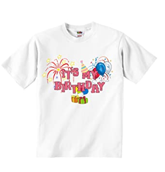 Its My Birthday Boys Girls T Shirt Personalized Tees Unisex Boys