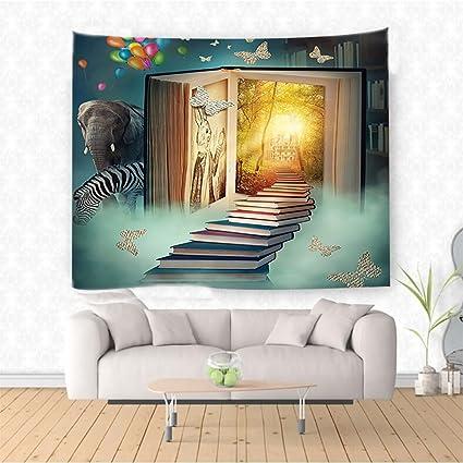 Amazon Com Nalahome Fantasy House Decor Upstairs To The Magic Book