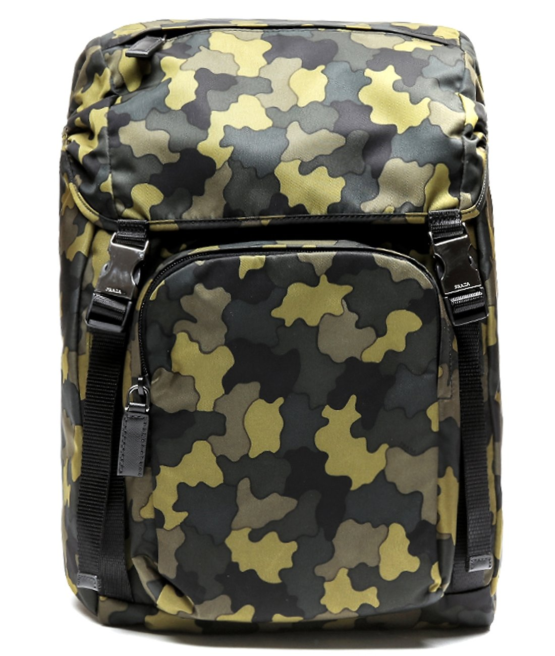Prada Men's Top Flap Travel Backpack One Size Camouflage